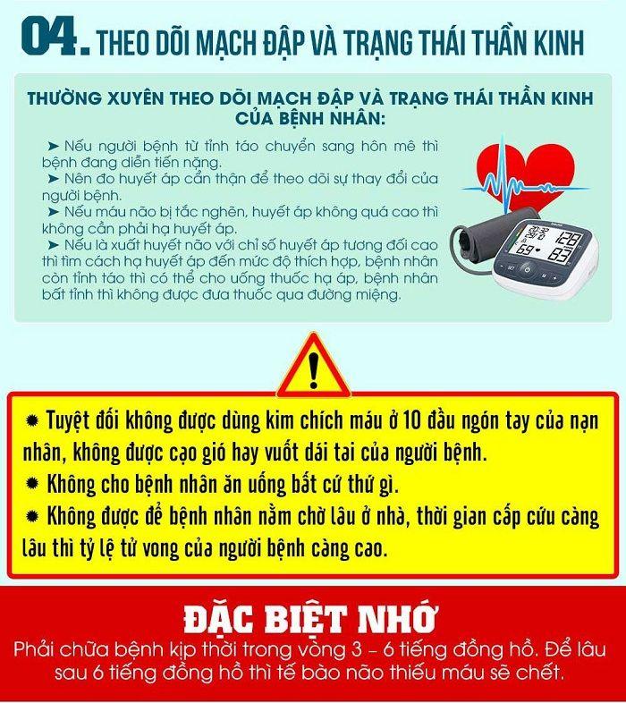 Những lưu ý khi sơ cứu người bị đột quỵ tránh nguy hiểm