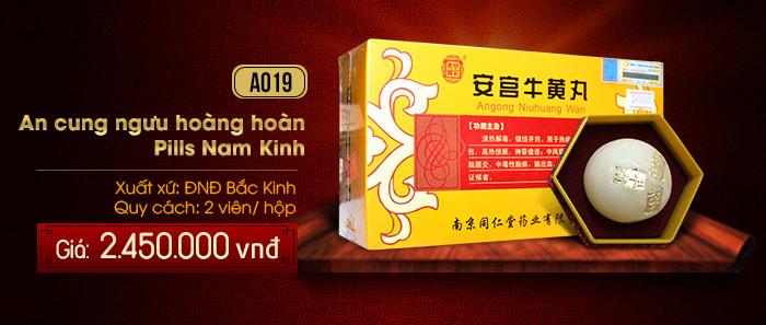 Giá an cung ngưu hoàng hoàn Nam Kinh Pills