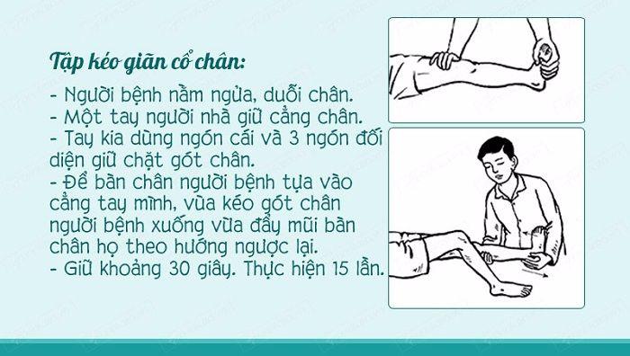 Tập kéo dãn cổ chân và khớp gối