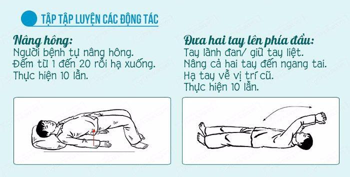 Các động tác nâng hông và tập khớp vai