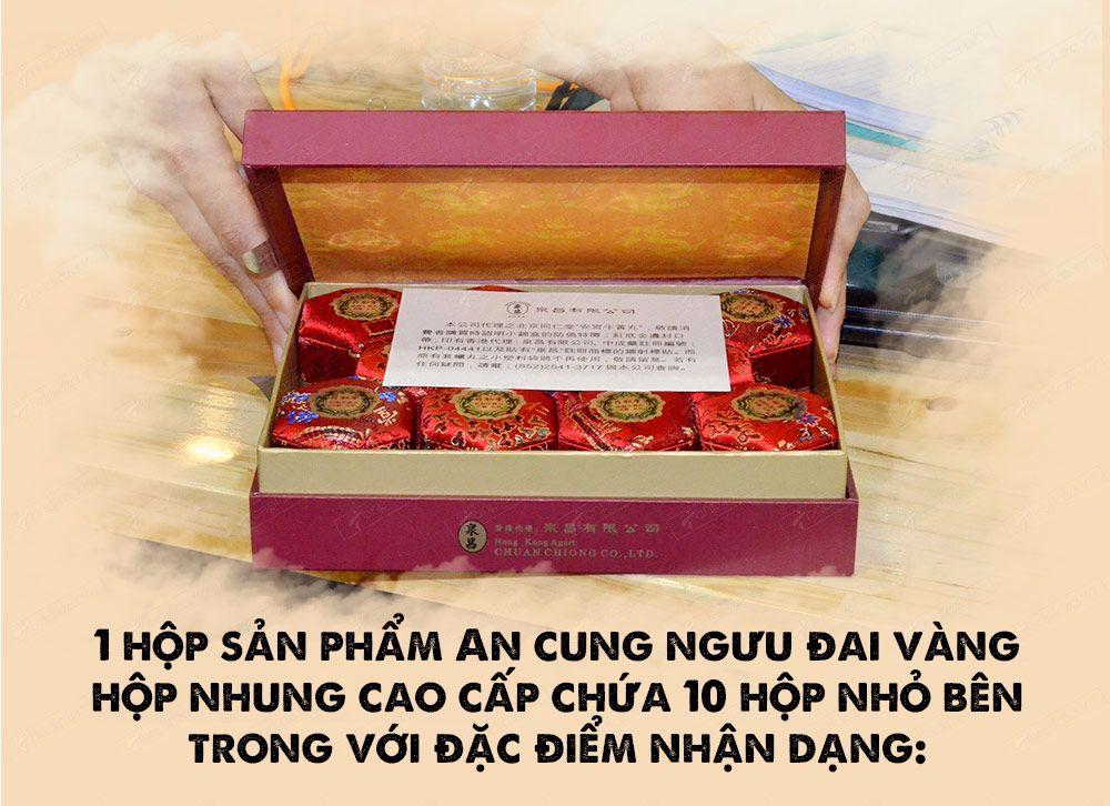 Viên an cung ngưu hoàng hoàn Hàn Quốc hộp xanh loại 10 viên