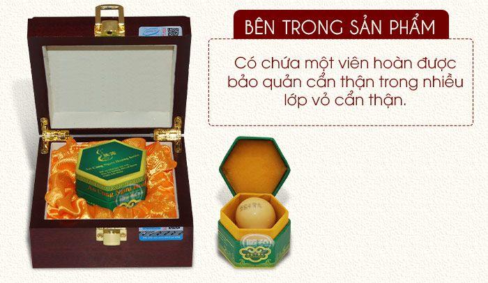 Bên trong hộp an cung ngưu hoàng hoàn Đông Á 1 viên
