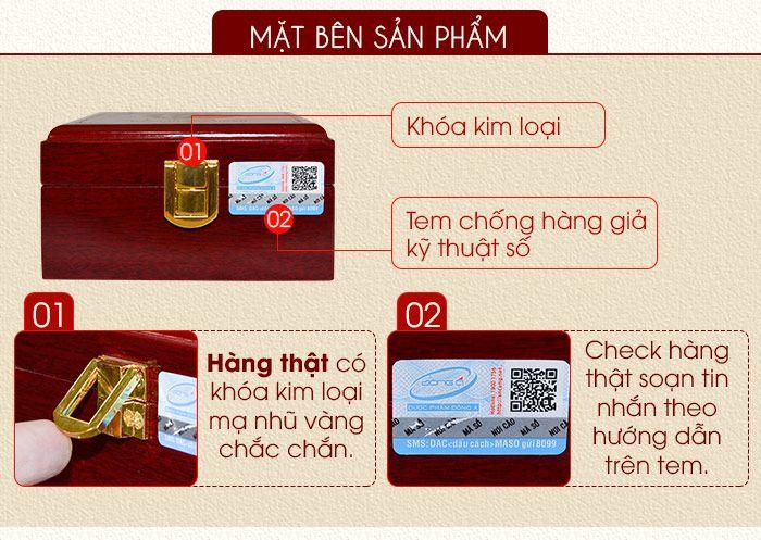 Tem chống hàng giả và khóa an toàn của hộp an cung ngưu Đông Á